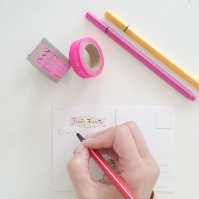 Postcrossing schrijven
