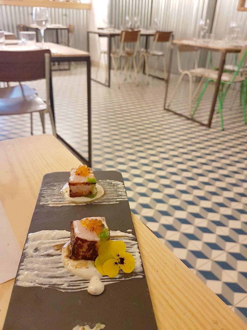Palo Cortao Fries fish plate