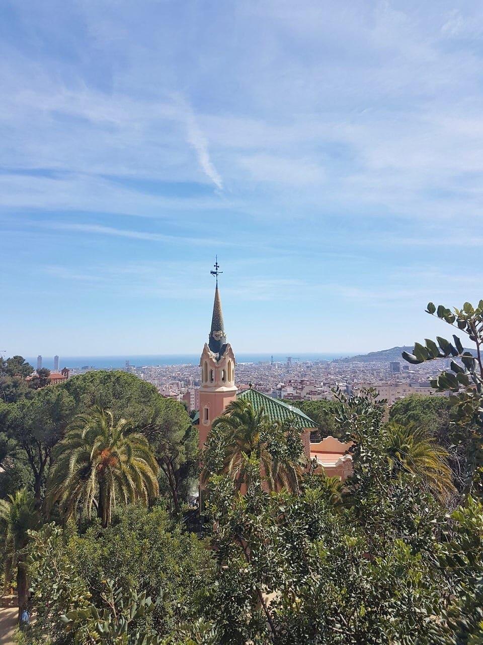 Hotspots in Barcelona Park Güell