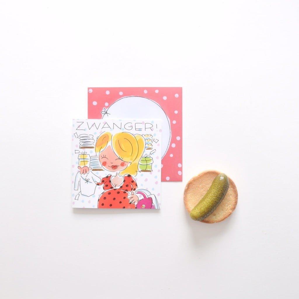 blond zwanger kaart