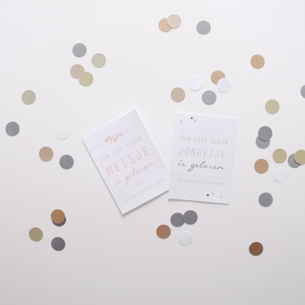 geboortekaartjes confetti