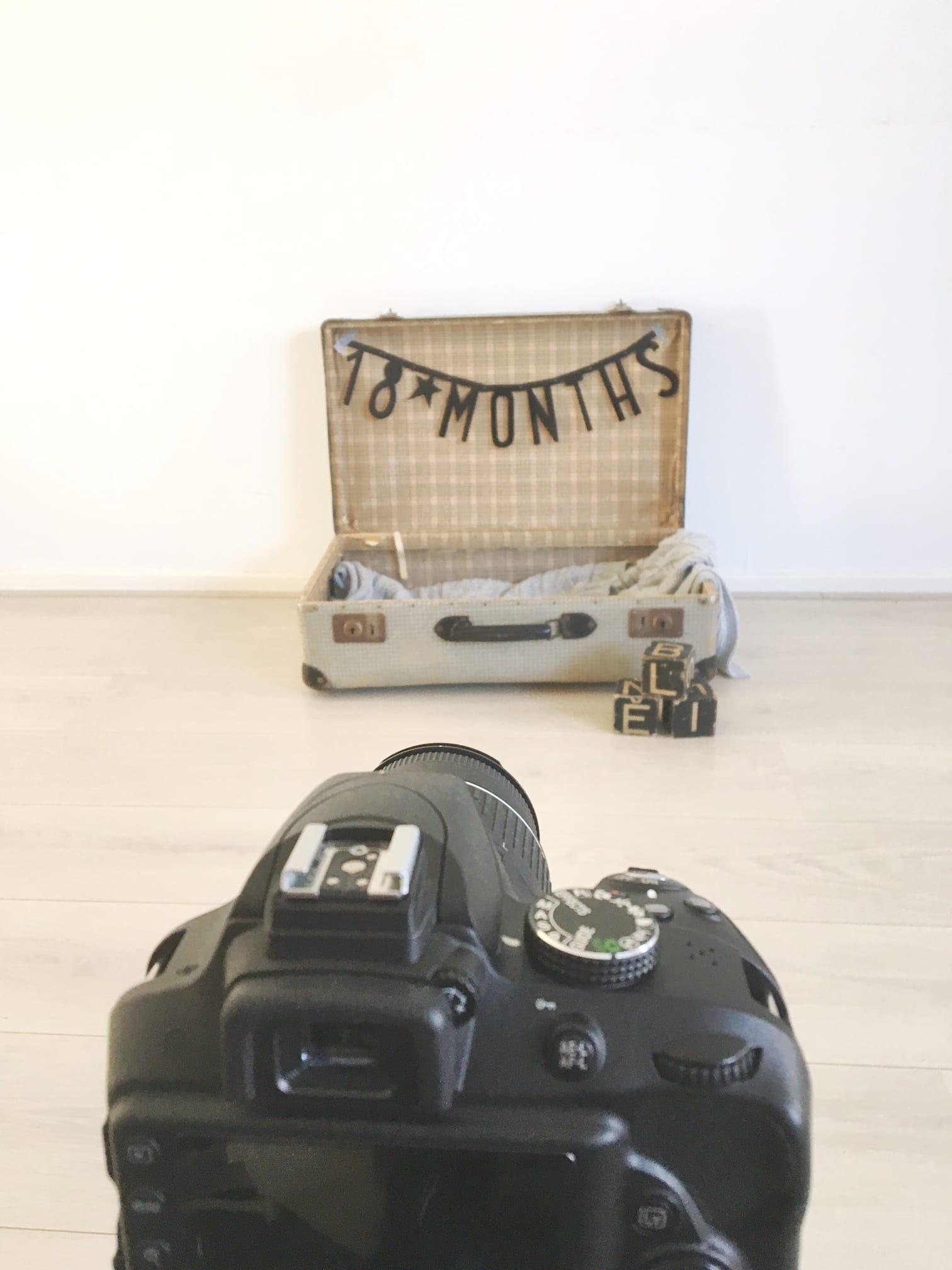 Baby fotografie koffer