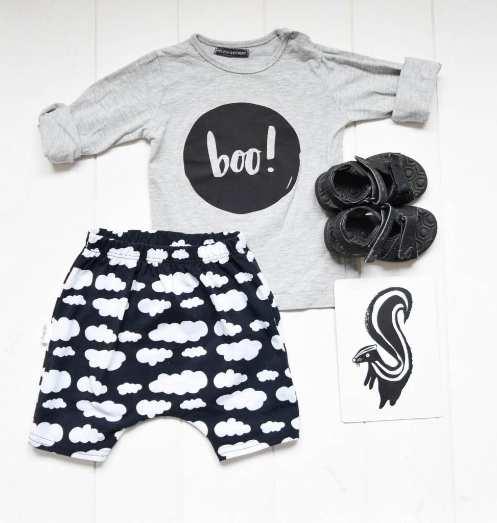 monochrome babykleding set